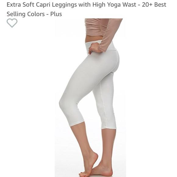 48ce6b10e587c Pants   Nwt White Capri Leggings From Amazonone Size   Poshmark